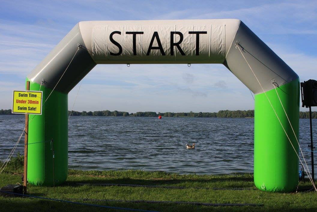 Grafman Middle Distance Triathlon Swim Start Sundried