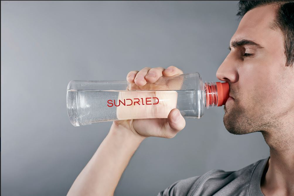 Fitness Model Drinking Water Sundried