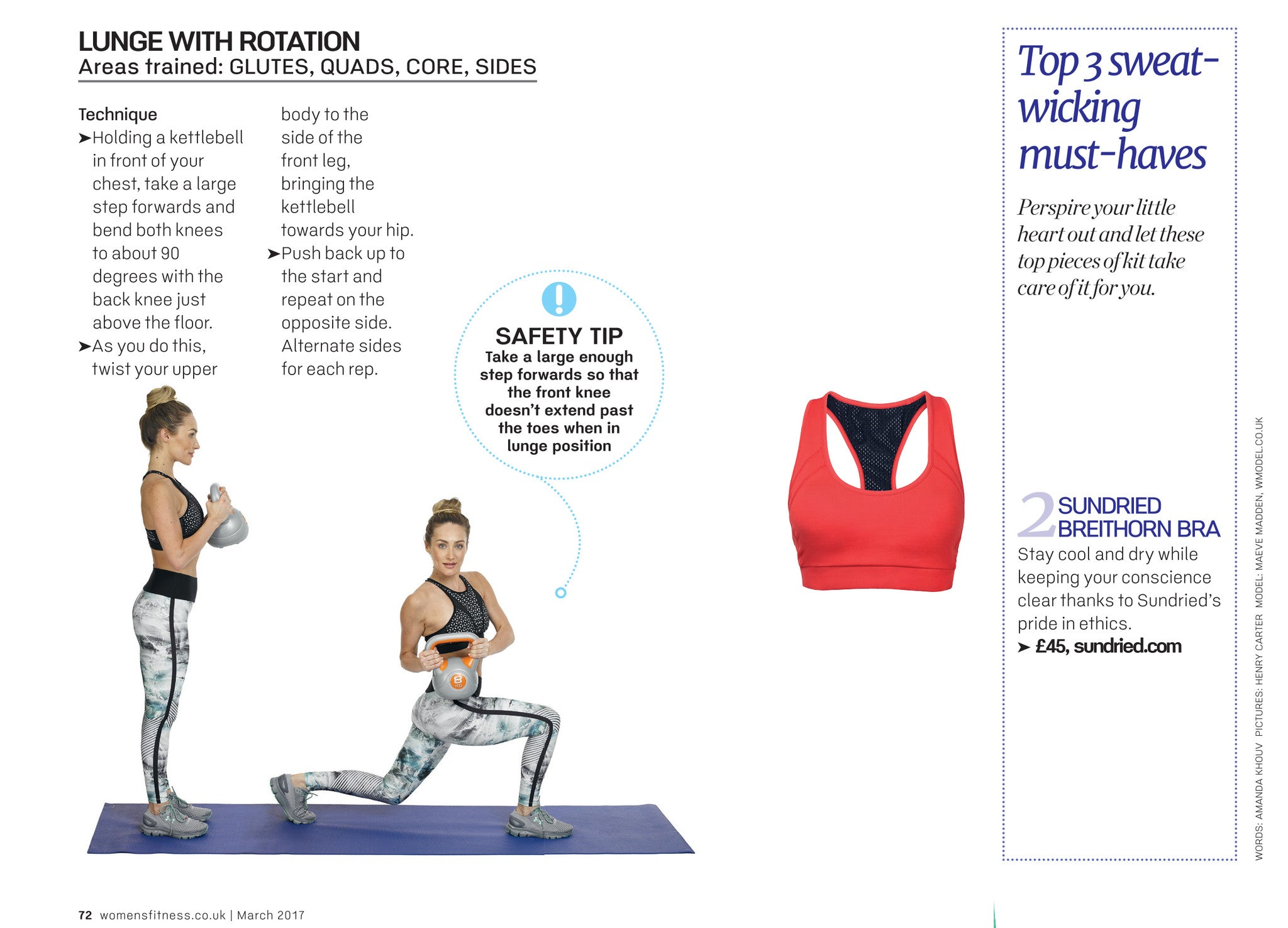 Womens Fitness Featuring Sundried Sports Bra