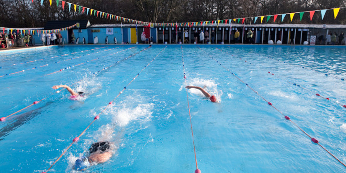 Tooting Bec Lido Aquathlon London Swimming Outdoor Pool