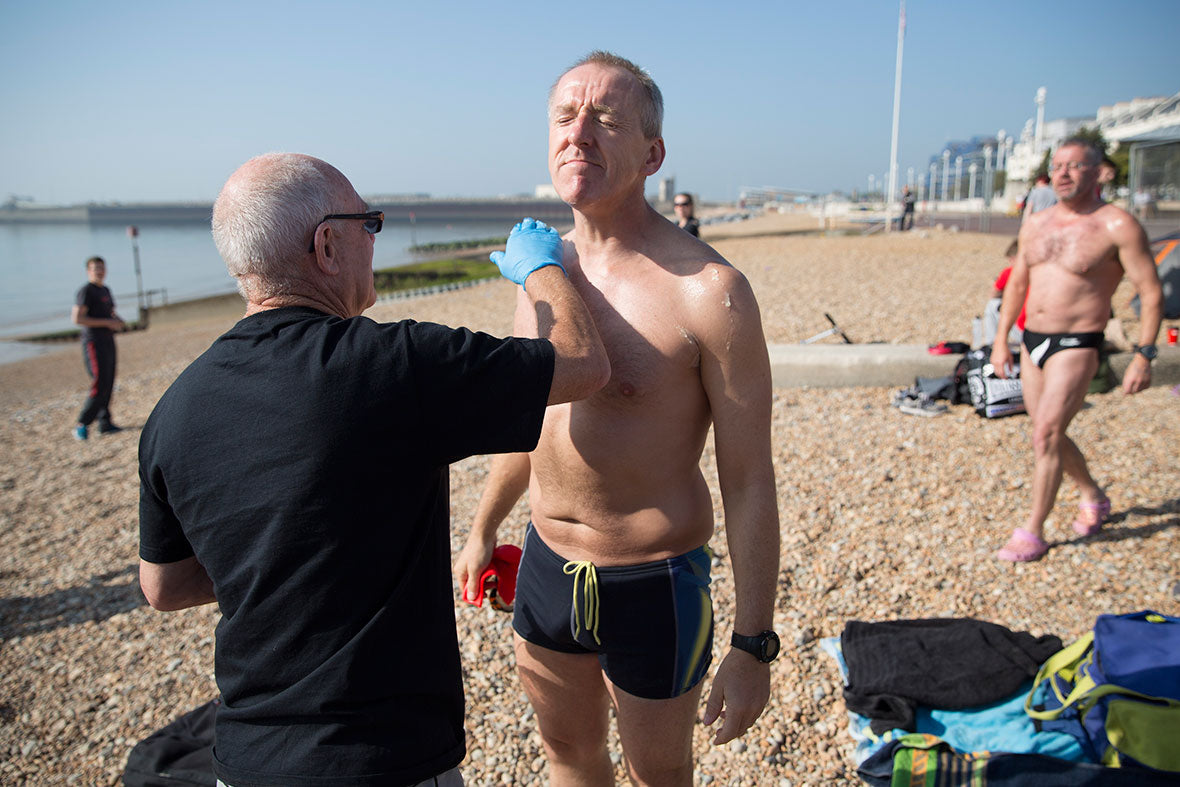 Paul Parrish arch to arc triathlon english swim channel