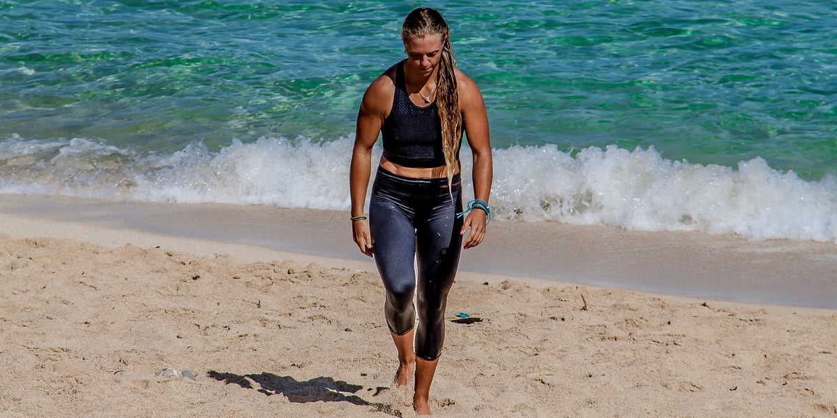 Barefoot Beach Running Holiday Workout keep Fit