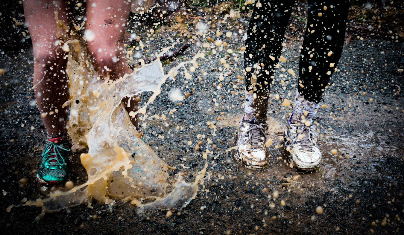 blisters running puddle splash
