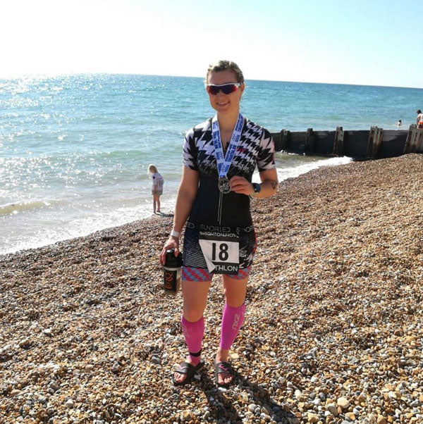 Sundried activewear ambassador Brighton triathlon 2019