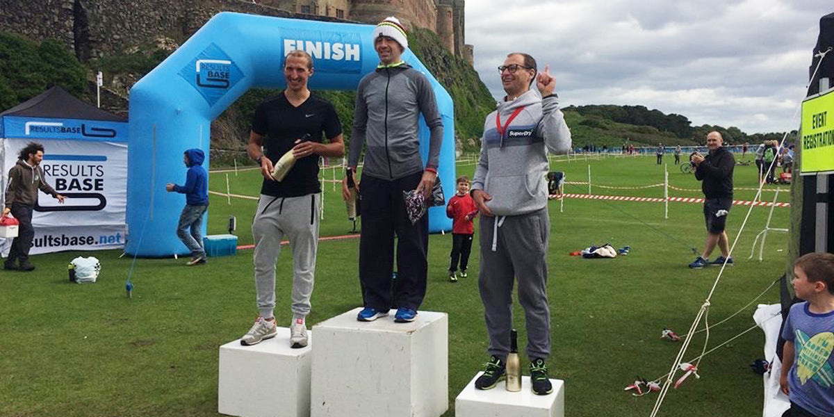 Conal McBride Winner Bamburgh Middle Distance Triathlon
