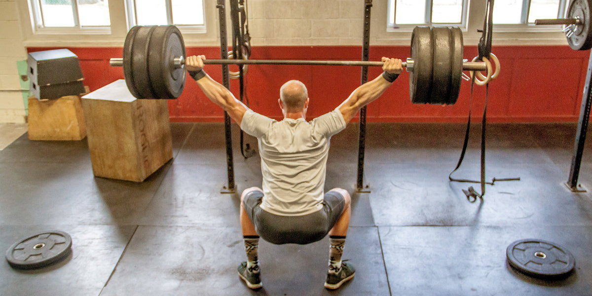 CrossFit overhead squat WOD workout