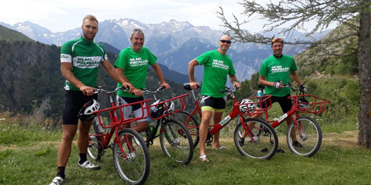 cycling bikes Alps mountain fitness challenge