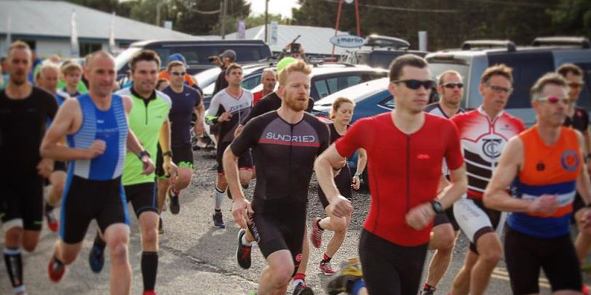 duathlon racing running cycling