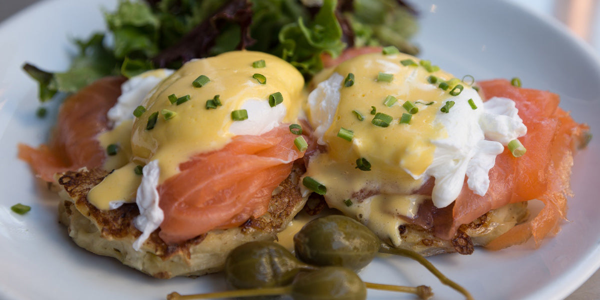smoked salmon eggs Benedict healthy breakfast idea