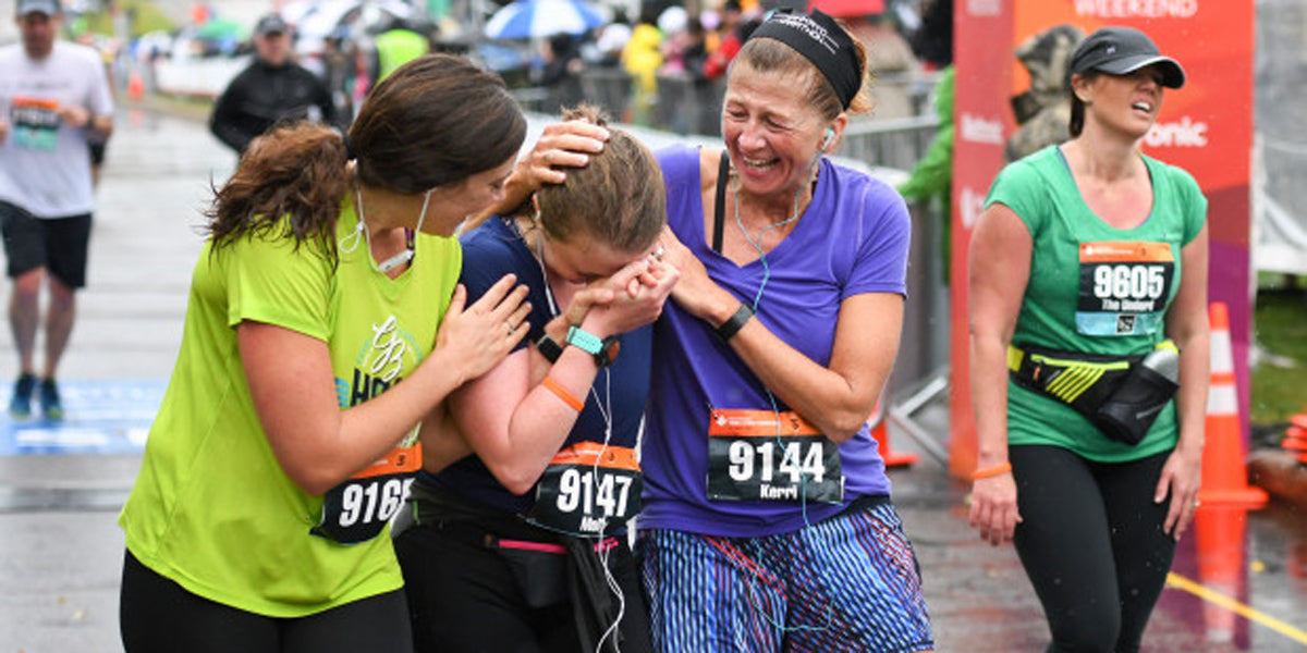 emotional marathon finish line moment