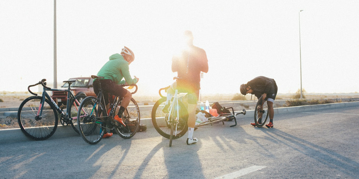 friends cycling together get fit healthy