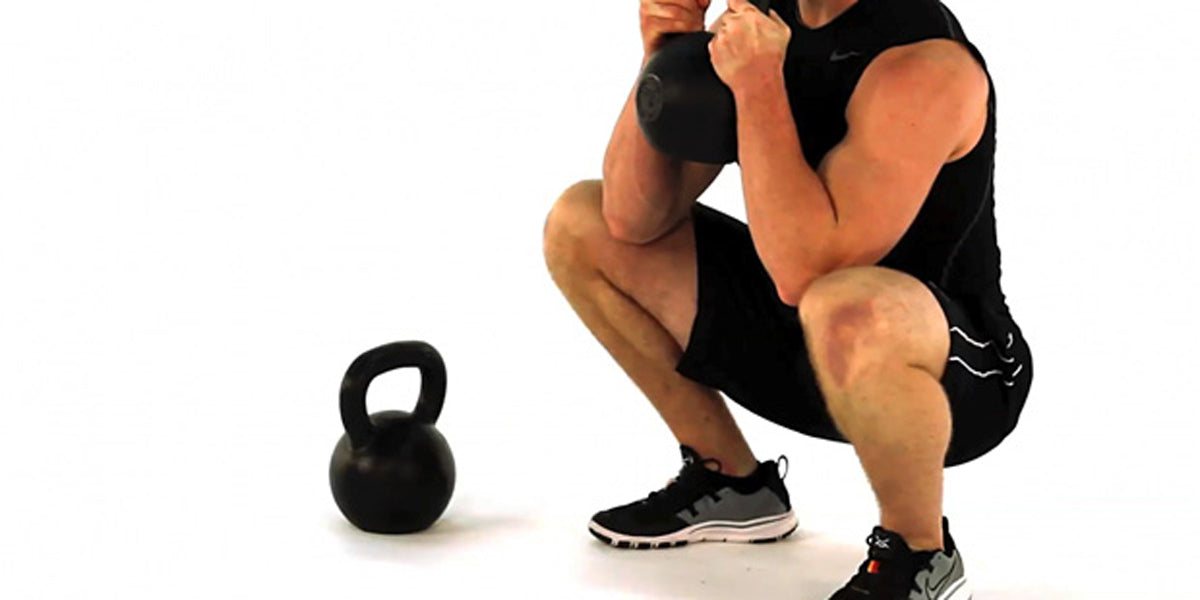 kettlebell goblet squat training workout gym fitness