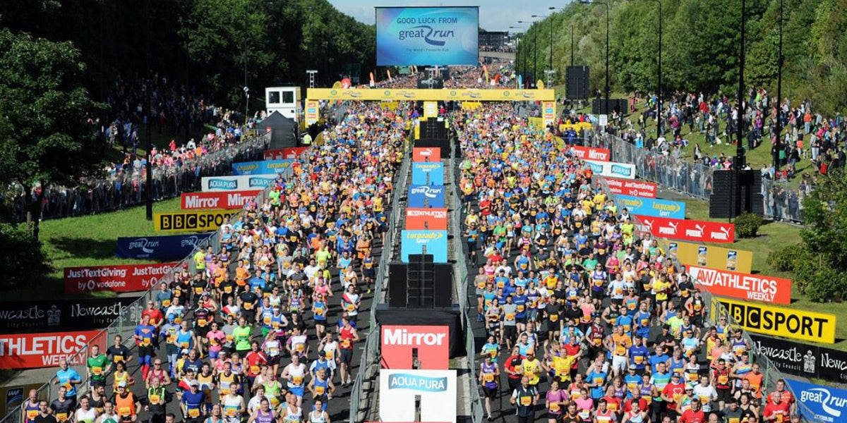 Great North Run GNR Half marathon newcastle