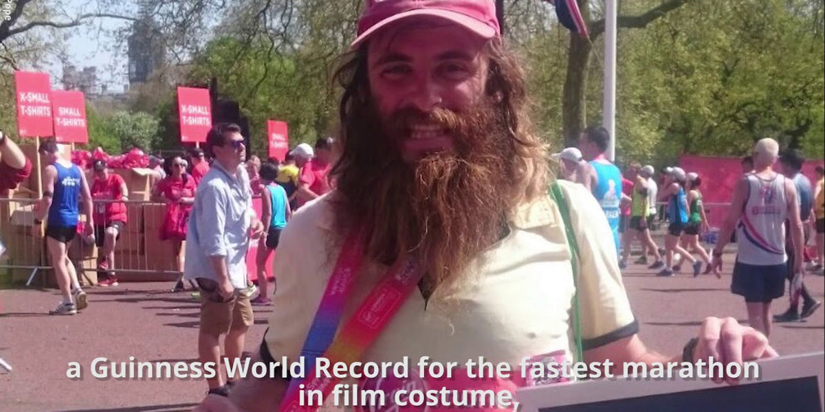 Guinness World Record Rob Pope film character running marathon Forrest Gump
