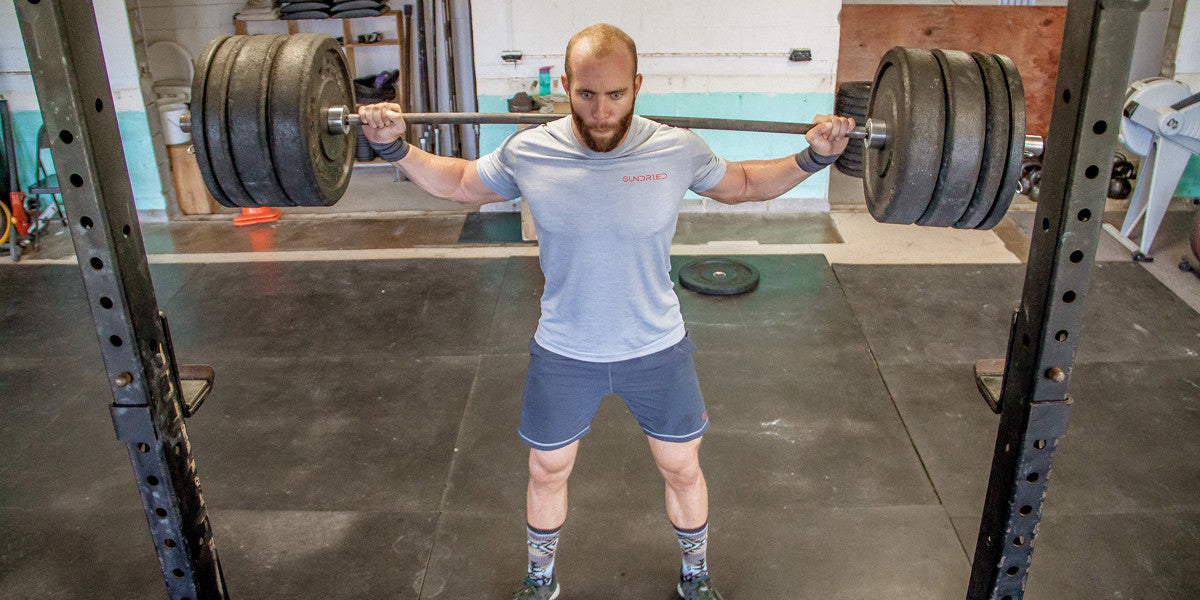 CrossFit Box Gym Squat Weights Fit Strength