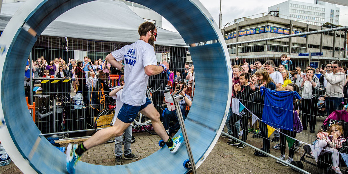 homemade hamster wheel running challenge local hero