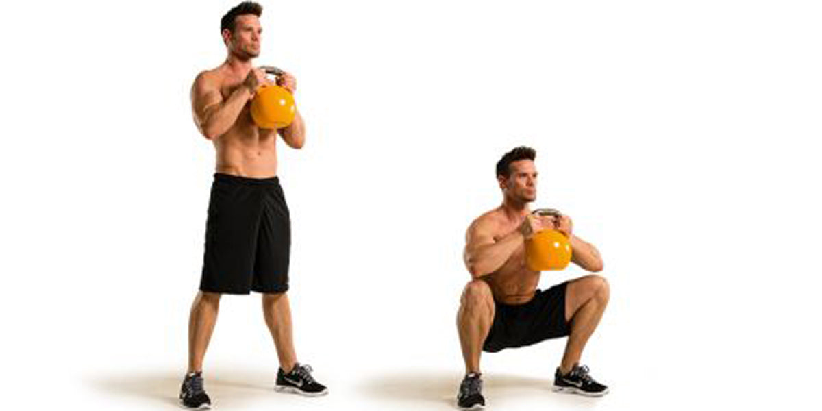 how to goblet squat kettlebell workout