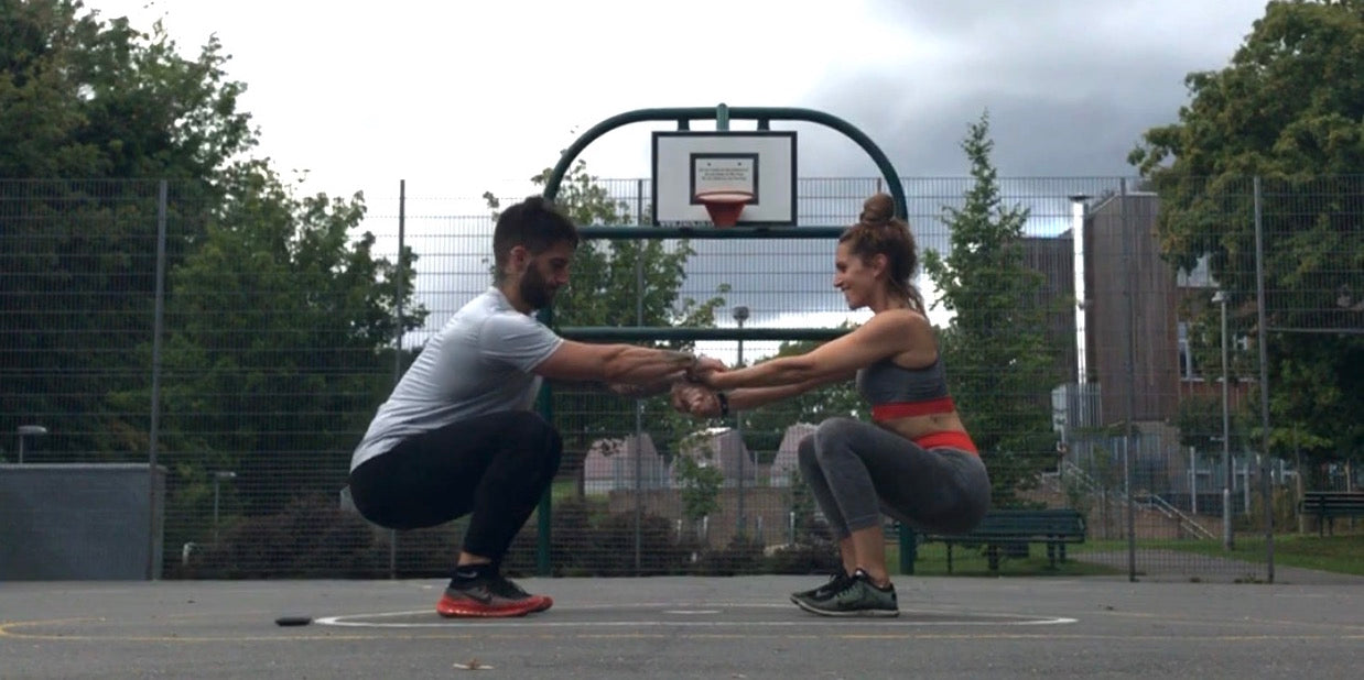 Partner Deep Squat Exercise
