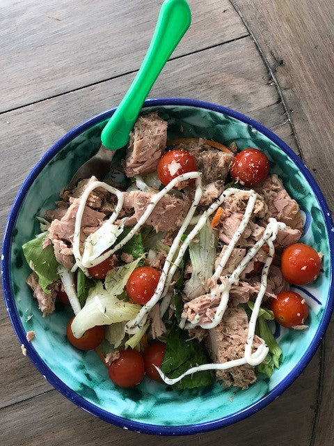 Green Salad Tuna Protein Healthy Nutrition