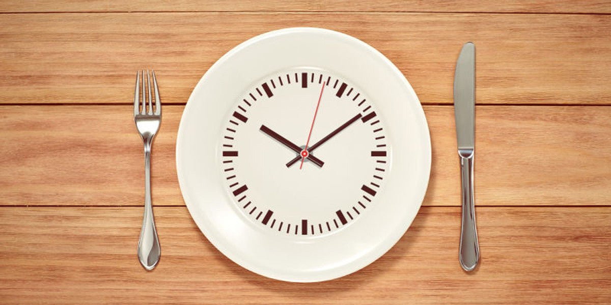 Intermittent Fasting Plate Clock Knife Fork
