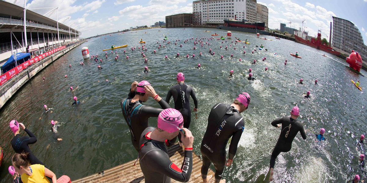 London Triathlon Swimming Open Water Canary Wharf