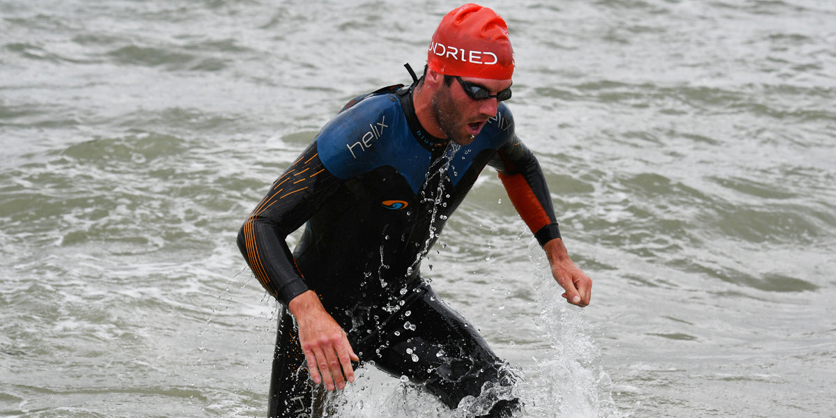 Matt Leeman pro triathlete swimming training triathlon