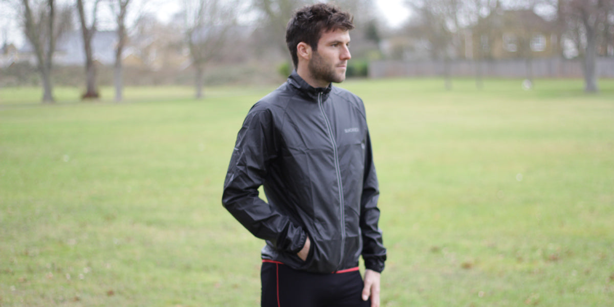Waterproof winter running jacket for men sportswear lightweight