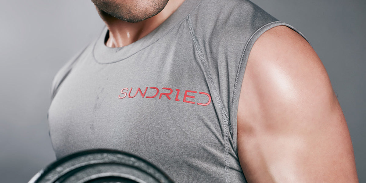 Men's sleeveless t-shirts vests gym tops for men