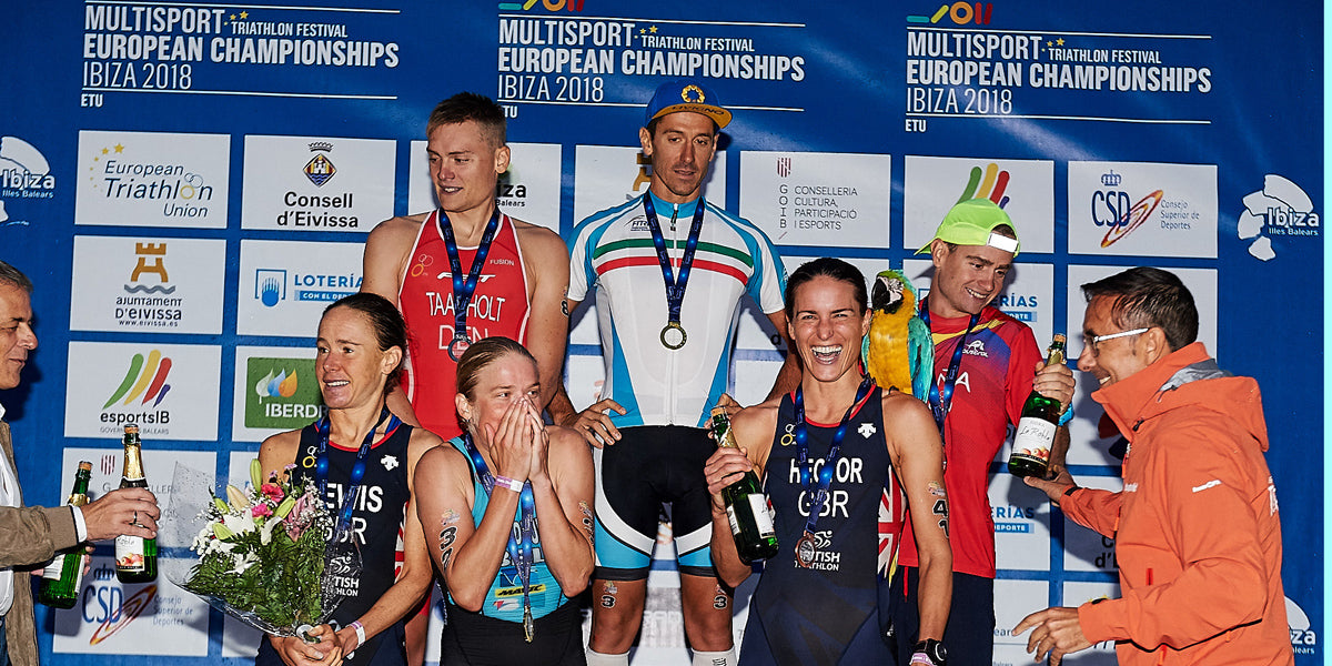 European Middle Distance Triathlon Championships Elite Race Podium Finish