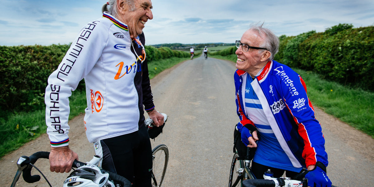 exercise old people smiling cycling