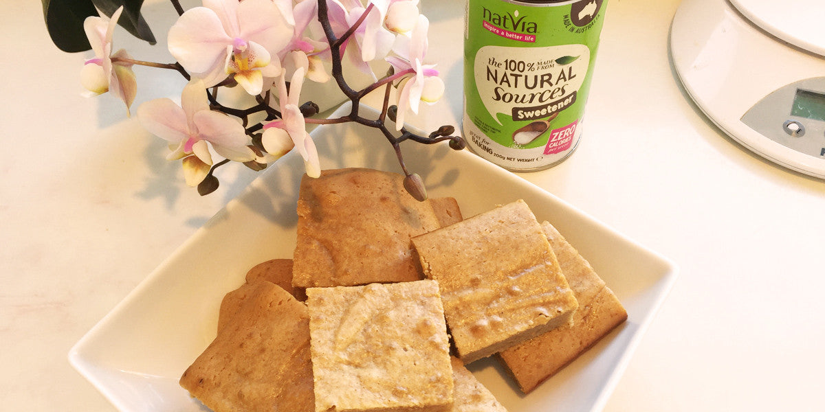 Spiced Paleo Blondies Recipe Sundried Natvia