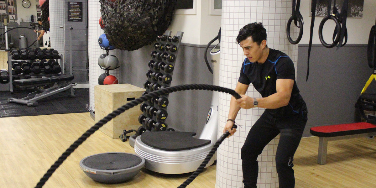 Peter Moon battle ropes personal trainer