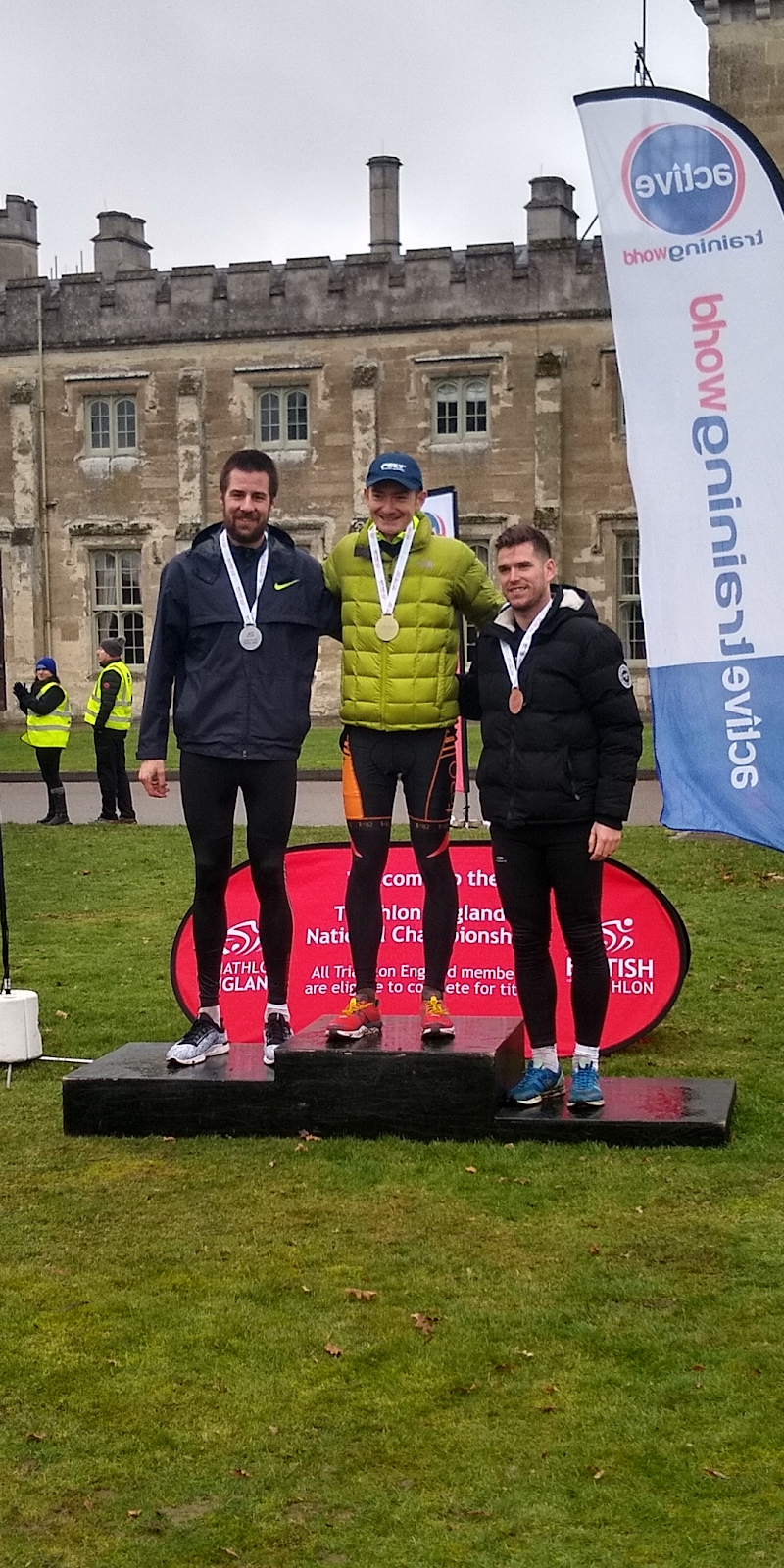podium finish duathlon race UK Sundried