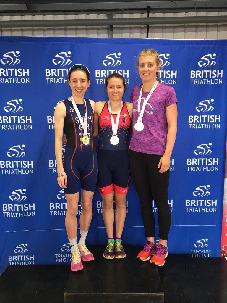 podium finish elite duathlon championships