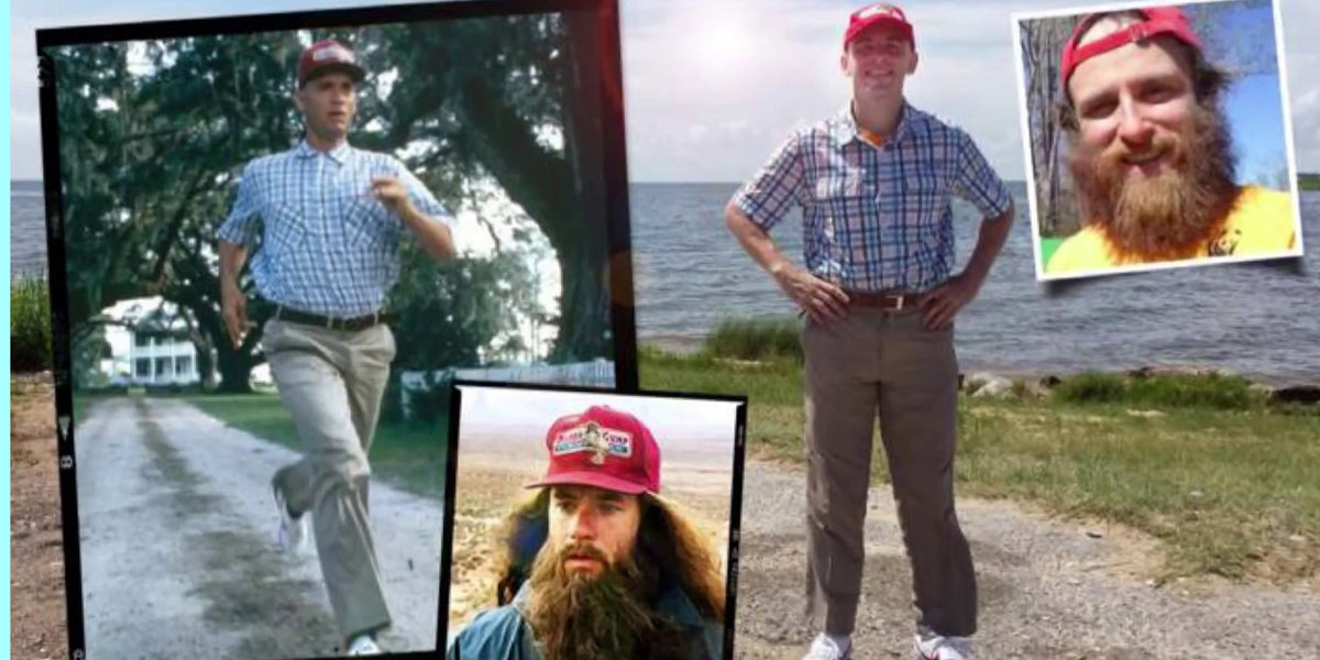 Rob Pope Real Life Forrest Gump Tom Hanks Running America