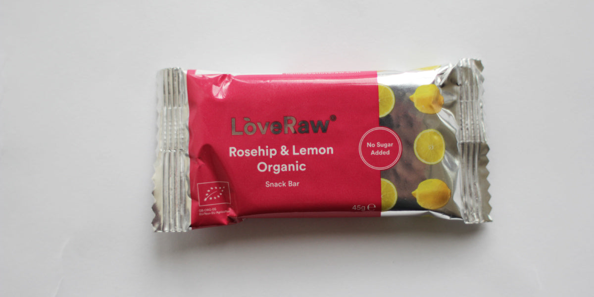 Rosehip and lemon healthy snacks