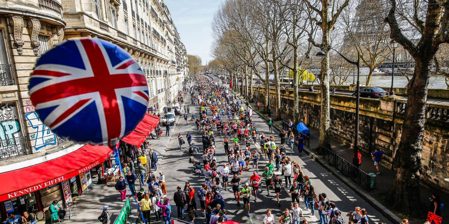 British corner UK Paris Marathon France 2018