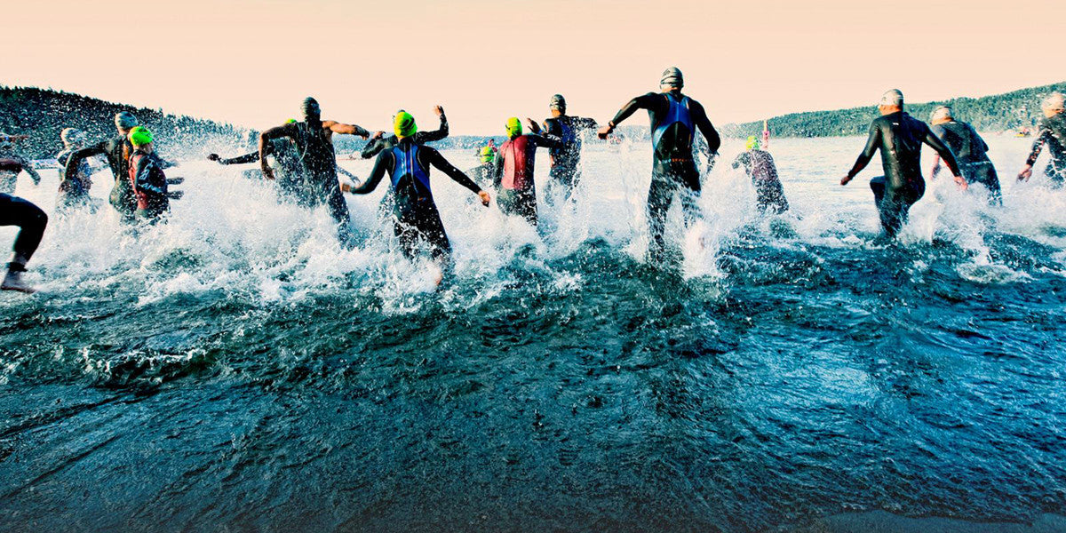Running Into The Sea Triathlon Open Water Swimming