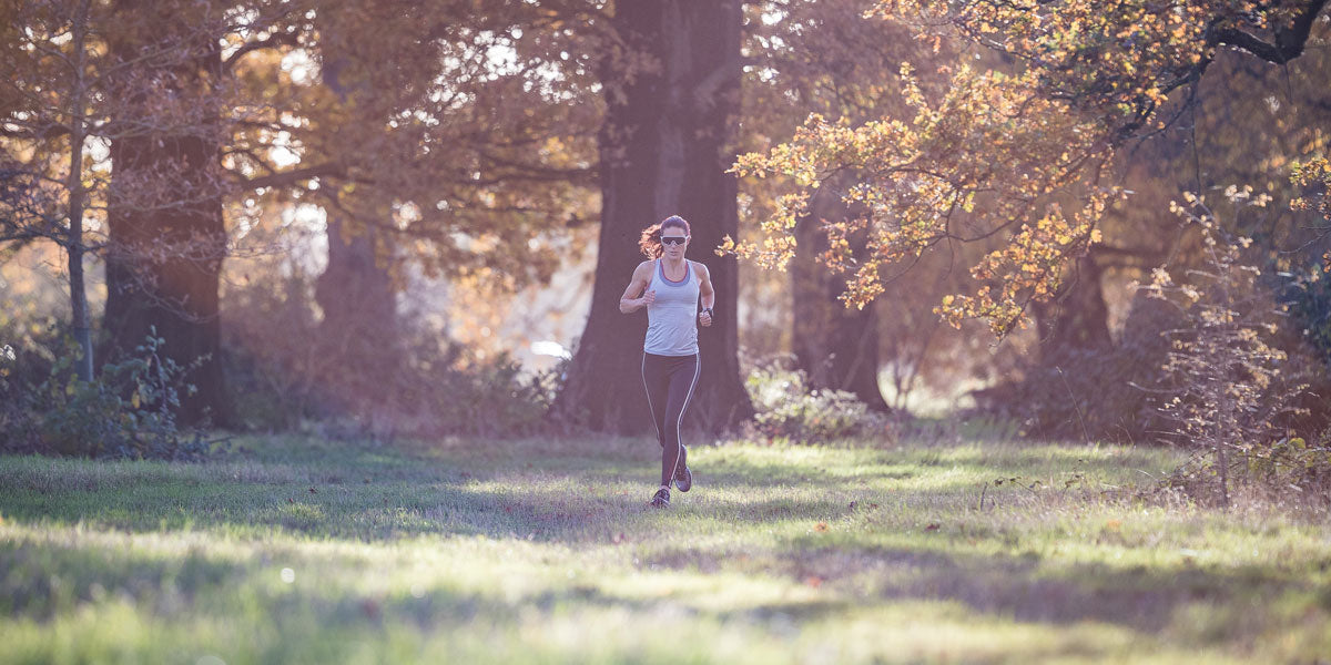 running outdoors autumn winter