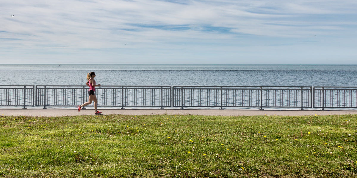 running seaside exercise fitness