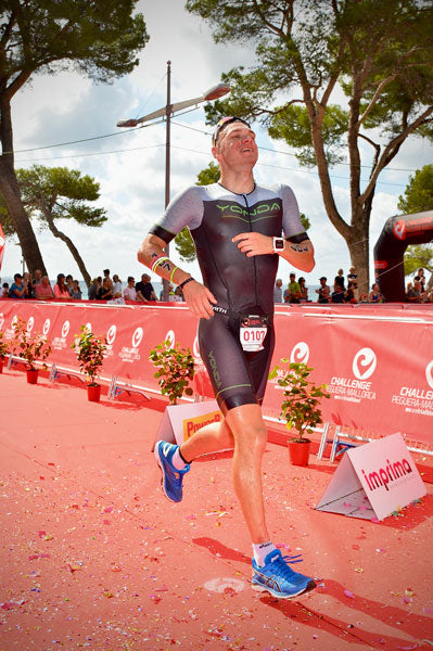 running triathlon finish Challenge Maiorca