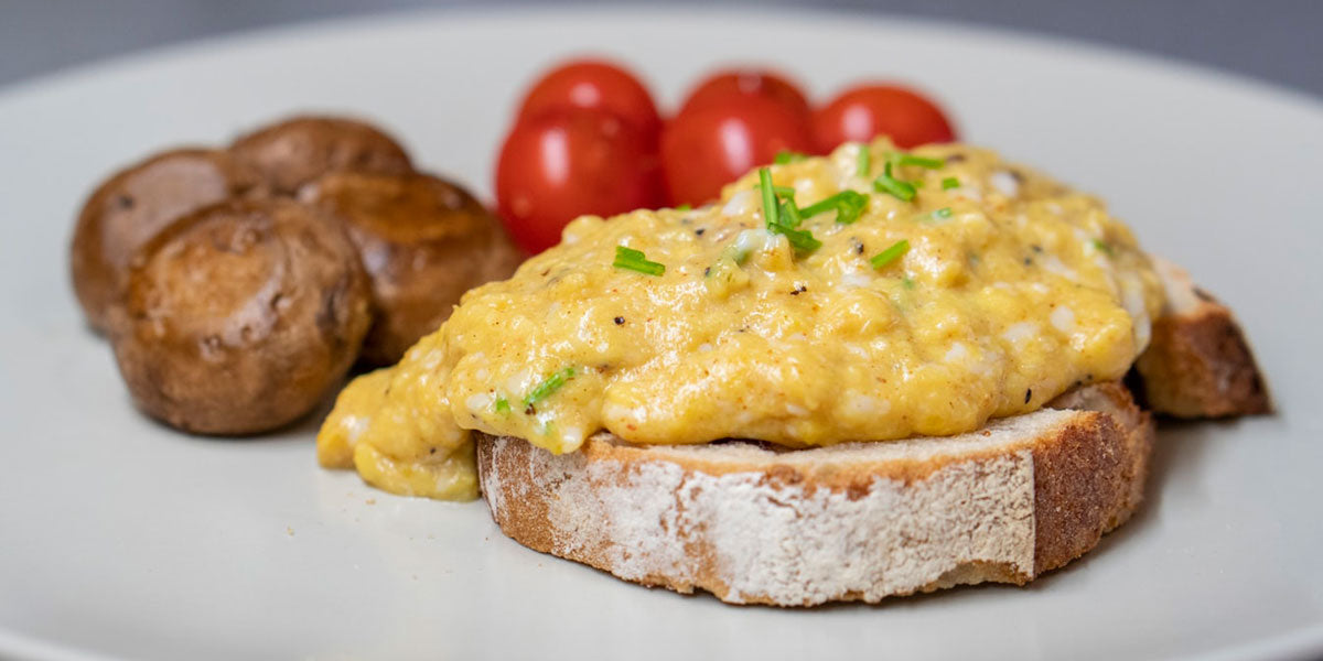 scrambled eggs toast healthy nutrition