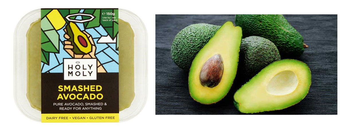smashed avocado pre-packed food waste