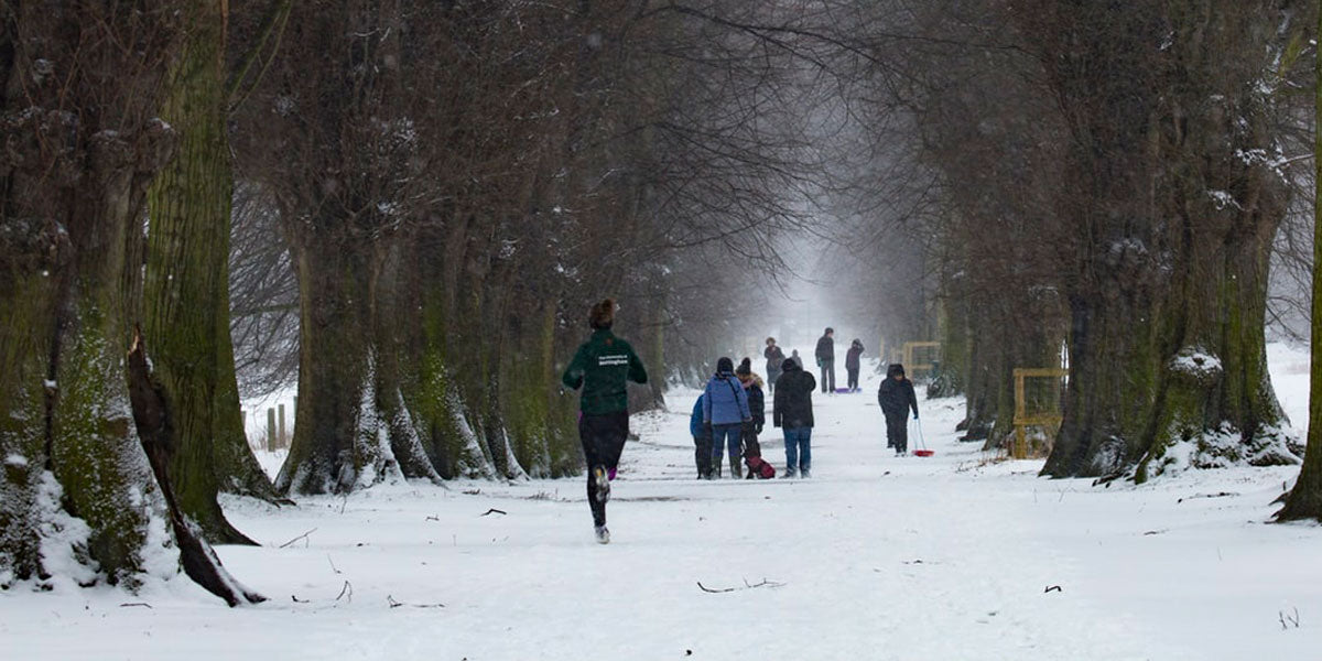 snow winter running get active