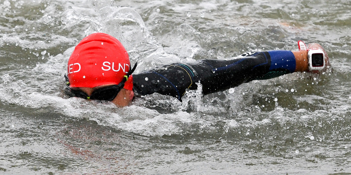 Sundried swim cap swimming goggles triathlon open water
