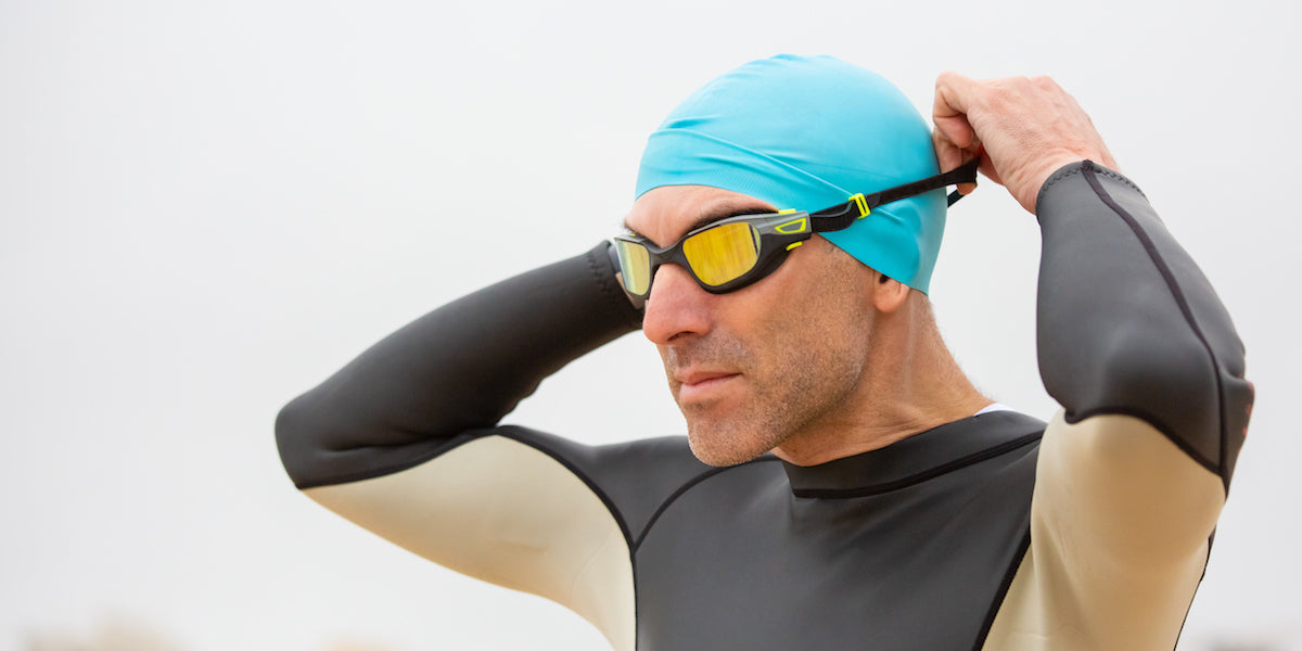 sportsman goggles open water triathlon training