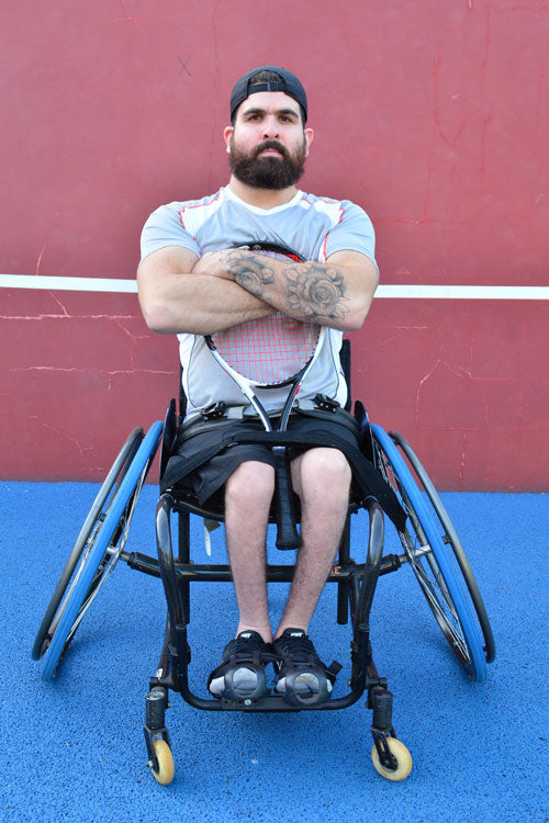 wheelchair tennis athlete Sundried activewear