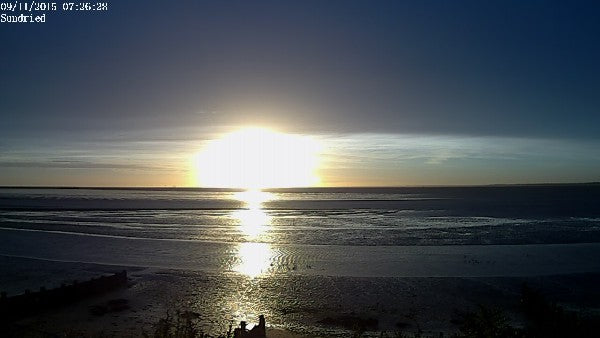 Sunrise Photos at East Beach from Sundried webcam