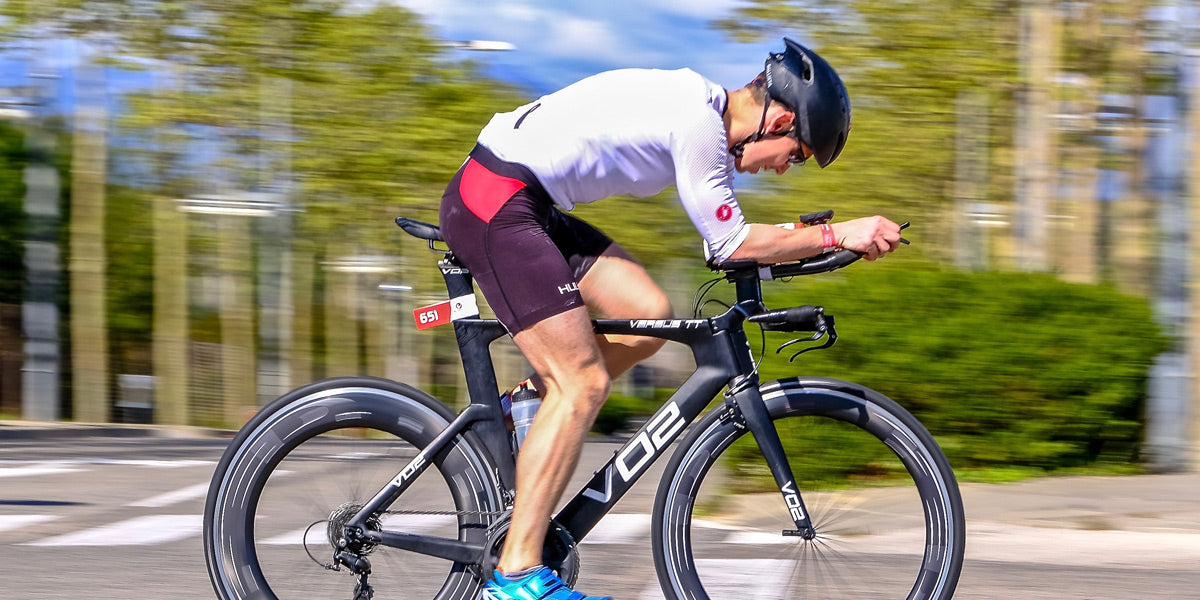 triathlete cycling training racing