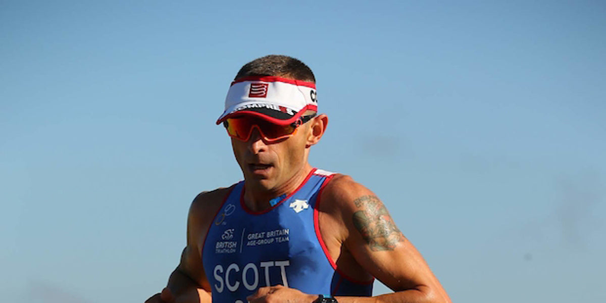 triathlete running triathlon race Team GB